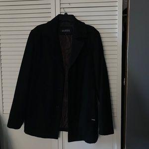 Men's Guess wool pea coat size medium